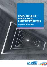 Catalogue de produits & liste de prix 2020 – adjuvants béton