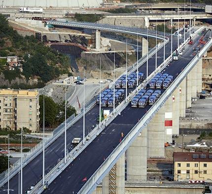 Mapei trug mit ihren Zusatzmitteln und ihrem technischen Service zum Bau der neuen San-Giorgio-Brücke in Genua bei