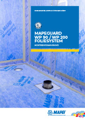 Monteringsanvisning Mapeguard WP 90/WP 200 foliesystem