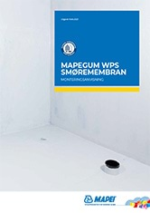 Monteringsanvisning Mapegum WPS smøremembran
