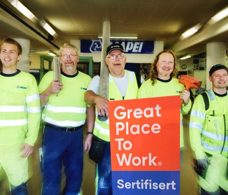 Mapei er et «Great Place To Work»