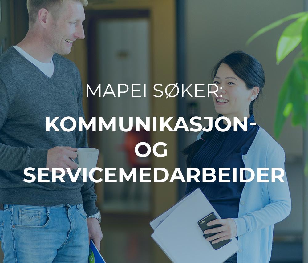 Mapei søker kommunikasjon- og servicemedarbeider