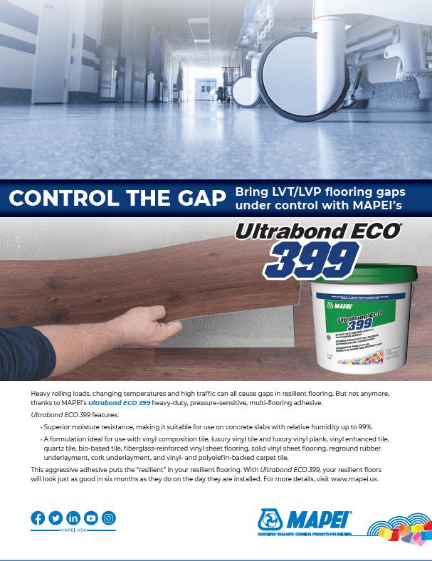 Control the Gap: Bring LVT/LVP Flooring Gaps Under Control with MAPEI's Ultrabond ECO 399