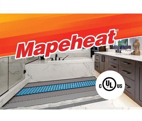 Mapeheat : un chauffage du plancher qui vous plaît, une certification UL en laquelle vous avez confiance