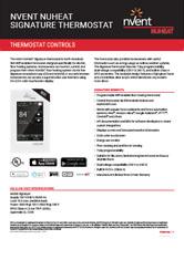 Nvent Nuheat Signature Thermostat - Data Sheet