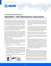 Mapefloor CPU: Maintenance Instructions