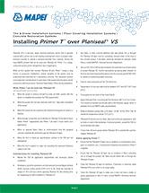 Installing Primer T over Planiseal VS