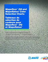 Mapefloor DQ and Mapeflakes Color Selection Chart