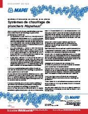 FAQ - Systèmes de chauffage de planchers Mapeheat