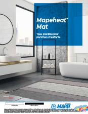 Mapeheat Mat Tissu précâblé pour planchers chauffants