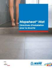 Mapeheat Mat Directives d'installation pour la douche