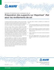 Préparation des supports sur Mapeheat Mat pour les revêtements de sol