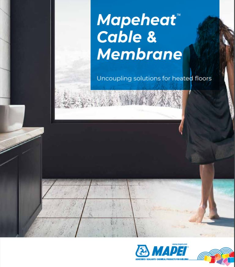 Mapeheat Cable & Membrane Uncoupling solutions for heated floors