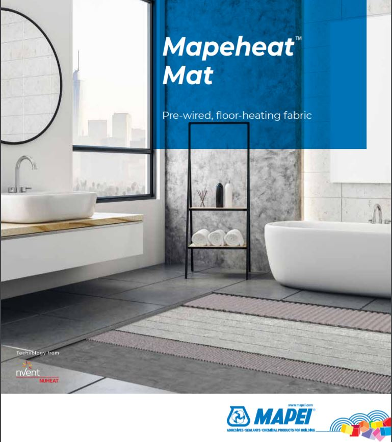 Mapeheat Mat - Pre-wired, floor-heating fabric