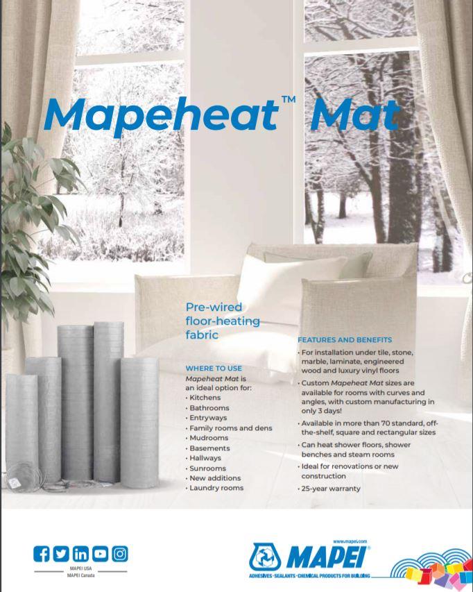Mapeheat Mat Sheet