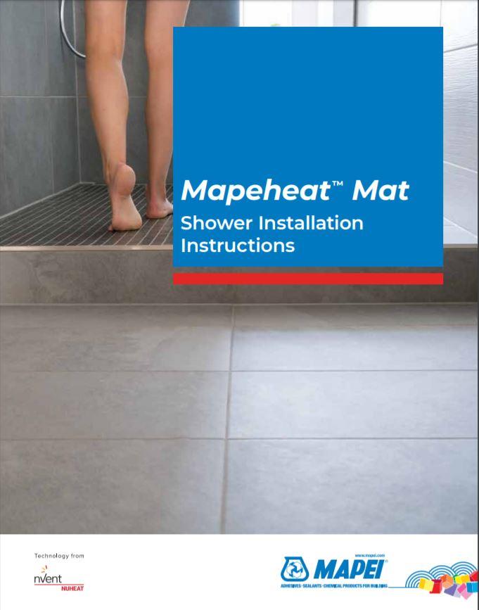 Mapeheat Mat Shower Installation Instructions