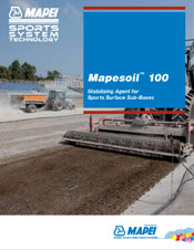Mapesoil 100 - Stabilizing Agent for Sports Surface Sub-Bases