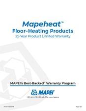 Mapeheat 25 year warranty