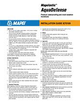 Mapelastic AquaDefense - Guía de instalación