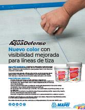 Mapelastic AquaDefense - Nuevo color con visibilidad mejorada para líneas de tiza