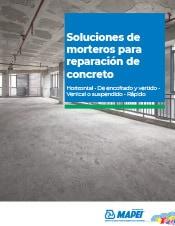 Soluciones de morteros para reparación de concreto