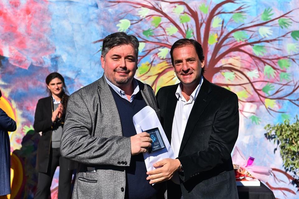 Gabriel Ros con Ariel Sujarchuk
