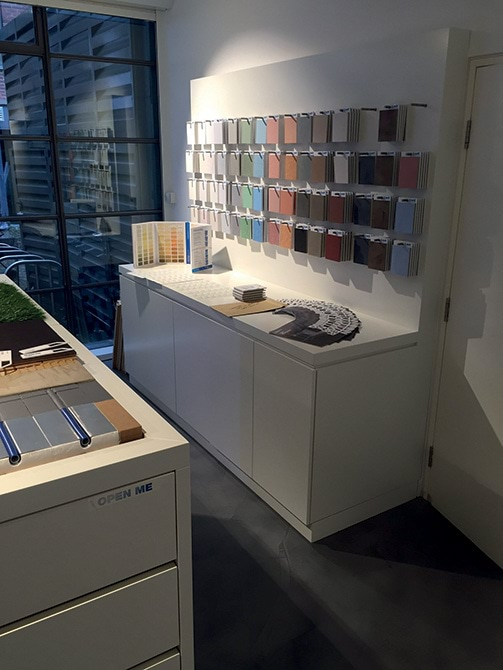 Mapei a Londra - LONDON SHOWROOM - campioni al vero 2