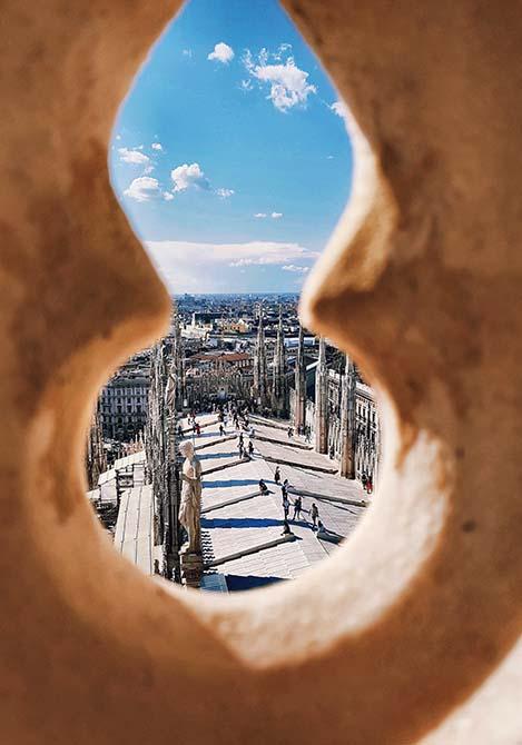 Dal gugliotto Pestagalli verso le Terrazze - Duomo di Milano-r