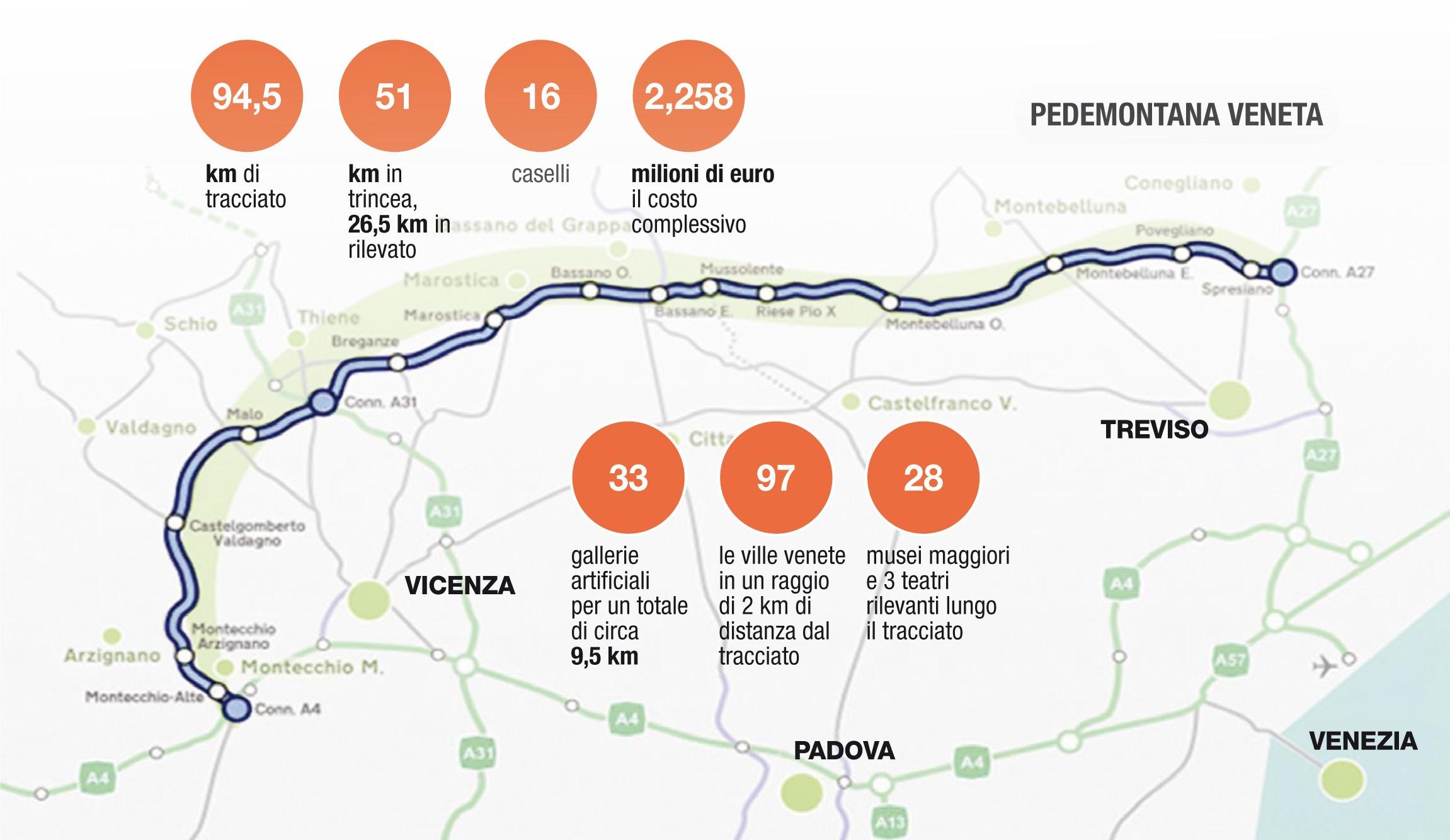 mappa Pedemontata Veneta da Vicenza a Treviso_Mapei