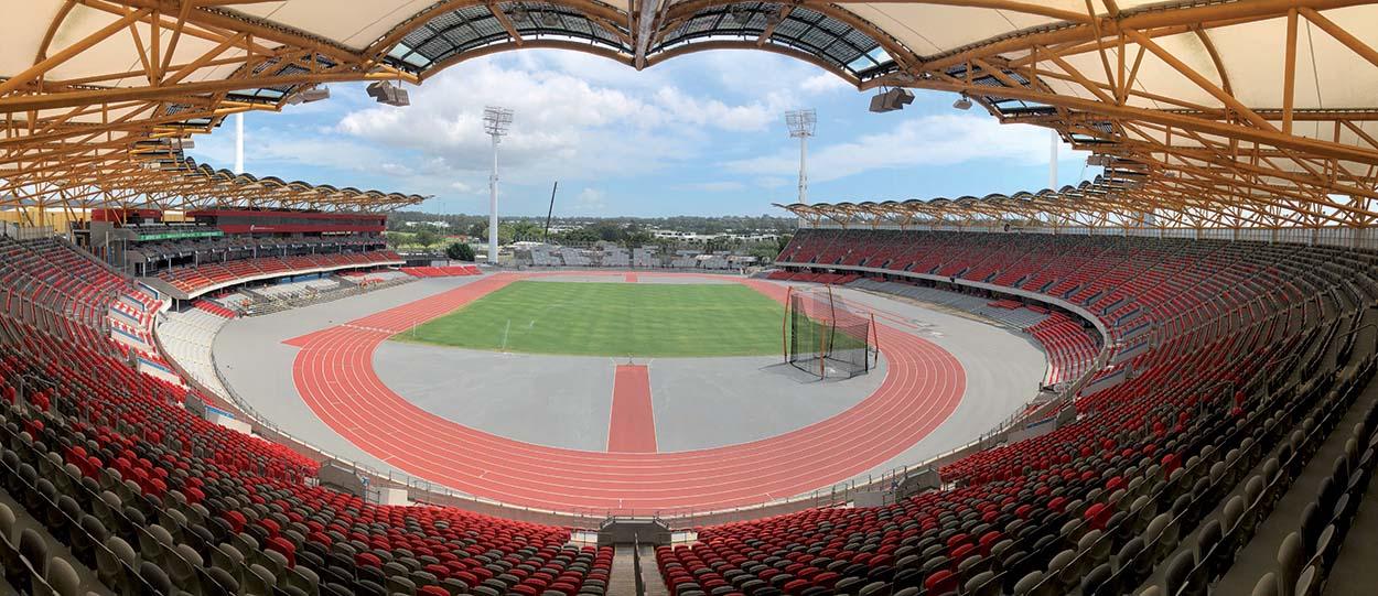 Mapei con Mondo Sport al Carrara Metricon Stadium - Gold Coast - Australia - Commonwealth Games 2018 - Adesilex G19 (1)