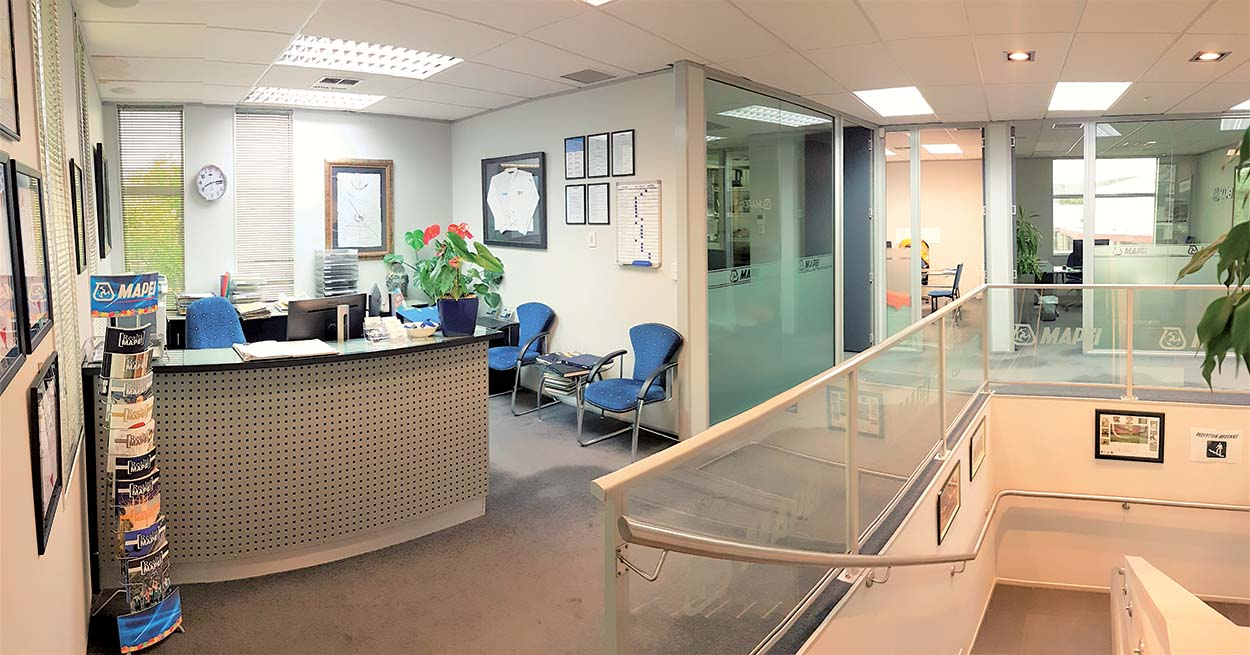 Mapei New Zealand - Auckland reception area