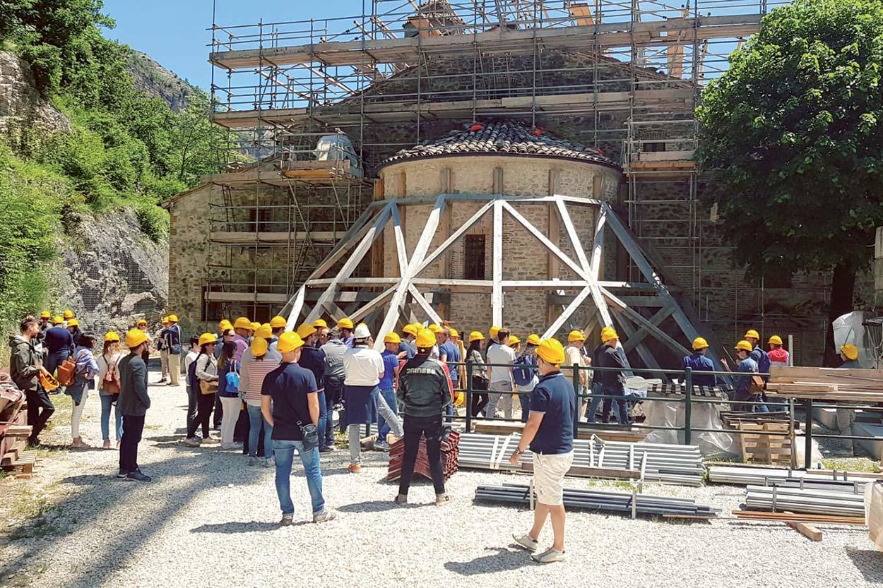 Santuario della Madonna dell'Ambro - Mapei Partner Tecnico del restauro conservativo e miglioramento sismico_2018 - 2