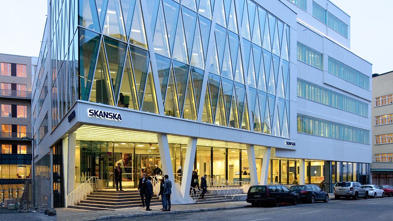 Sede centrale di Skanska Nordea - Stoccolma - Svezia - Gold Leed - Mapei