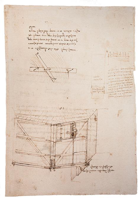 Mapei e Leonardo da Vinci_disegno diga