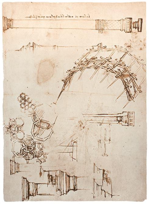 Mapei e Leonardo da Vinci_disegno ponte