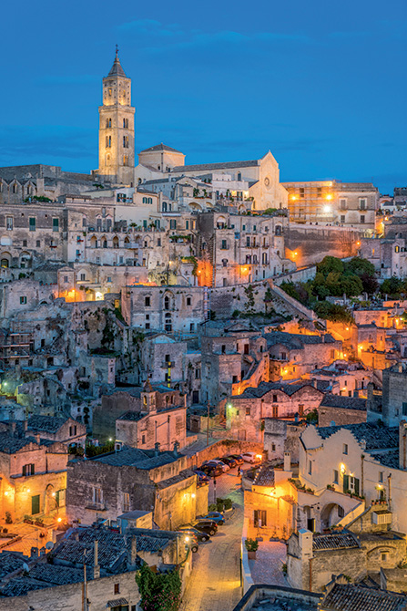 Mapei a Matera Capitale Europea della Cultura - - by night shutterstock_658013539