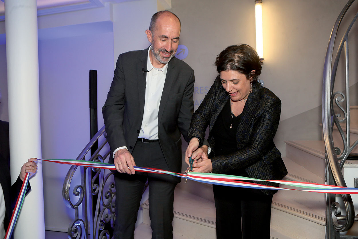 Mapei France - Specification Centre - inaugurazione - Veronica Squinzi