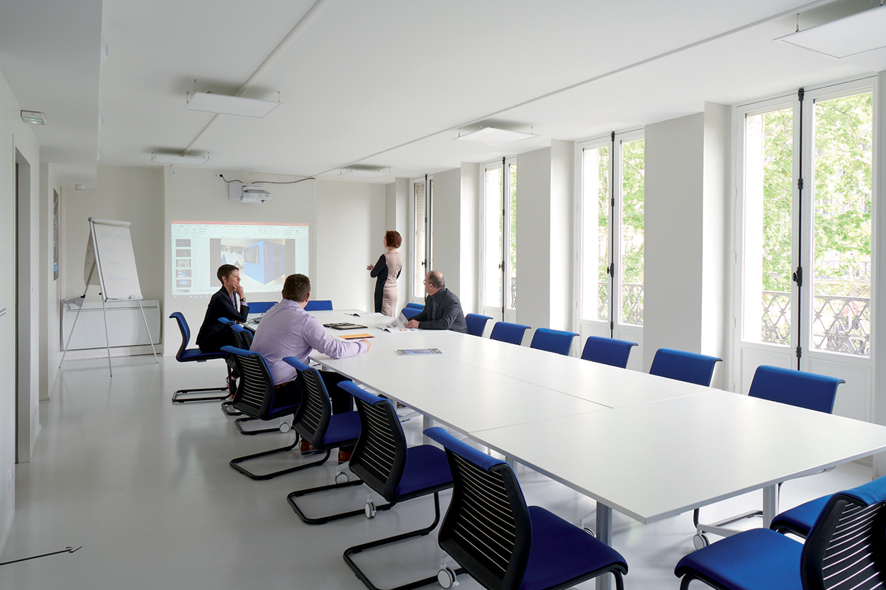 dove si trova Mapei - Parigi - Show Room - Specification Centre - Seminar Room (1)