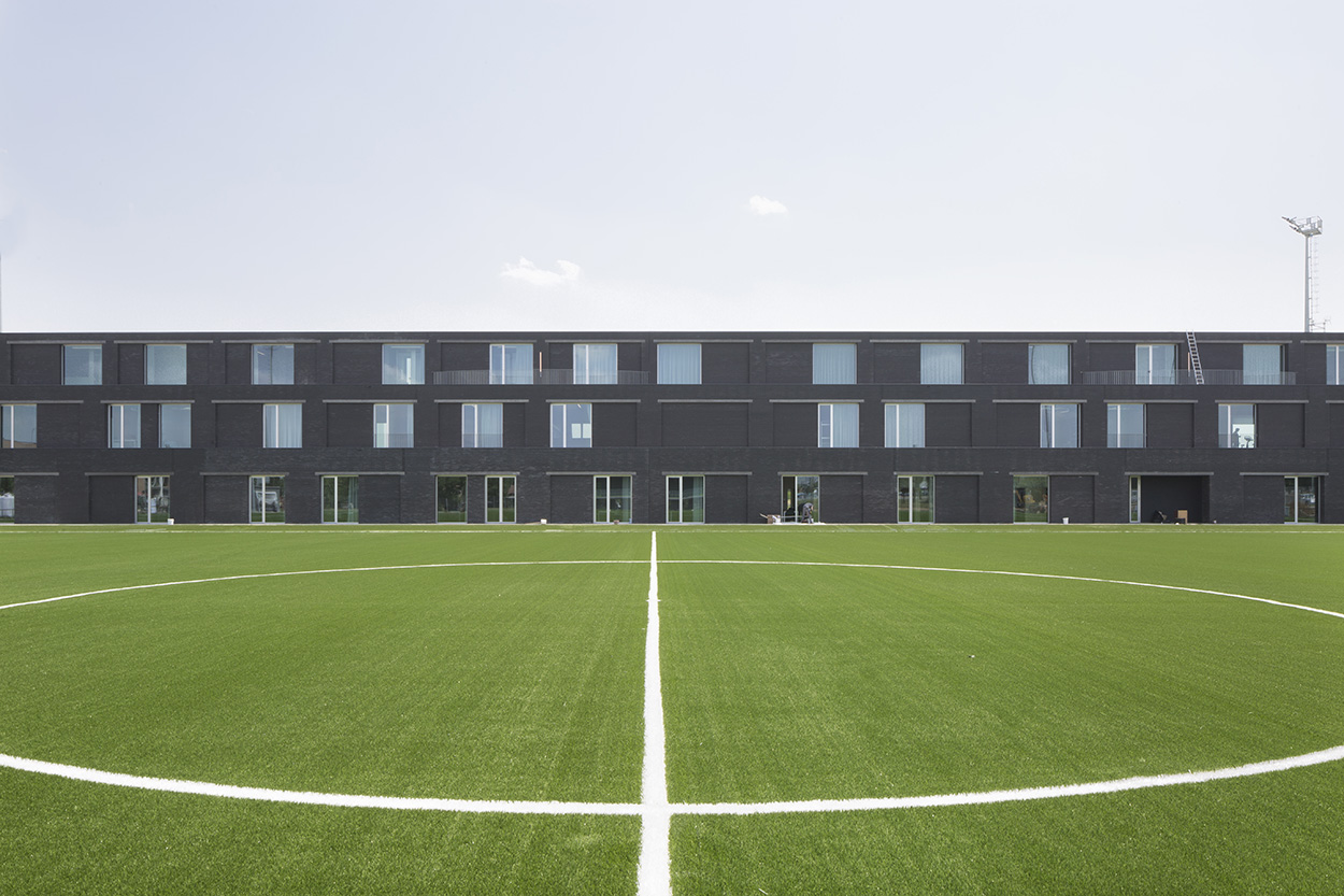 A view of the building at the Mapei Football Center ©Filippo Romano.