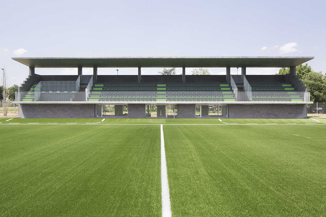 A view of the spectator stand at the Mapei Football Center ©Filippo Romano.
