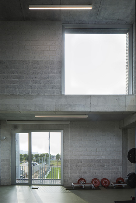The gymnasium at the Mapei Football Center ©Filippo Romano.