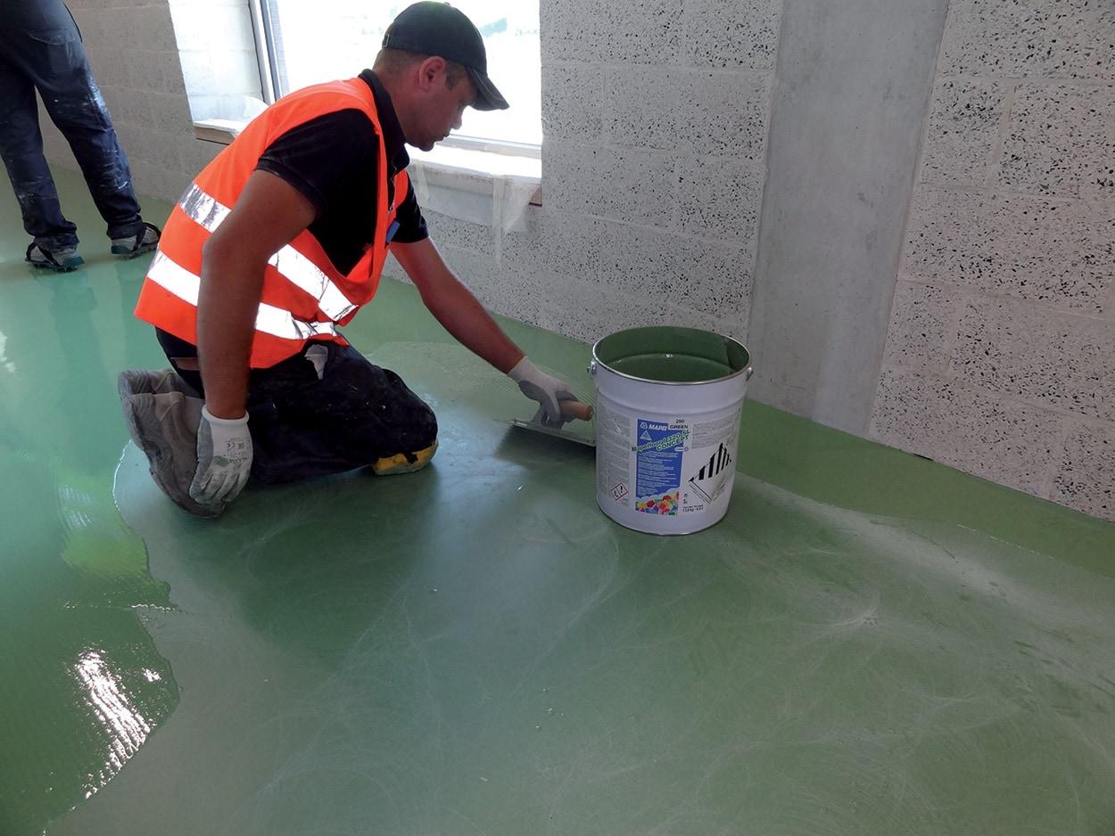 Mapei Football Center - costruzione - i prodotti usati_pavimenti in resina