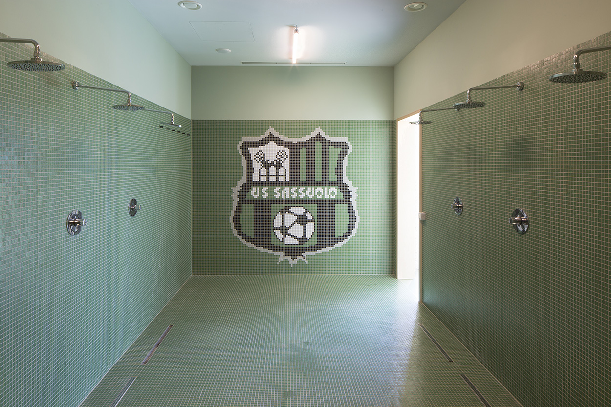 A mosaic at the Mapei Football Center ©Filippo Romano.