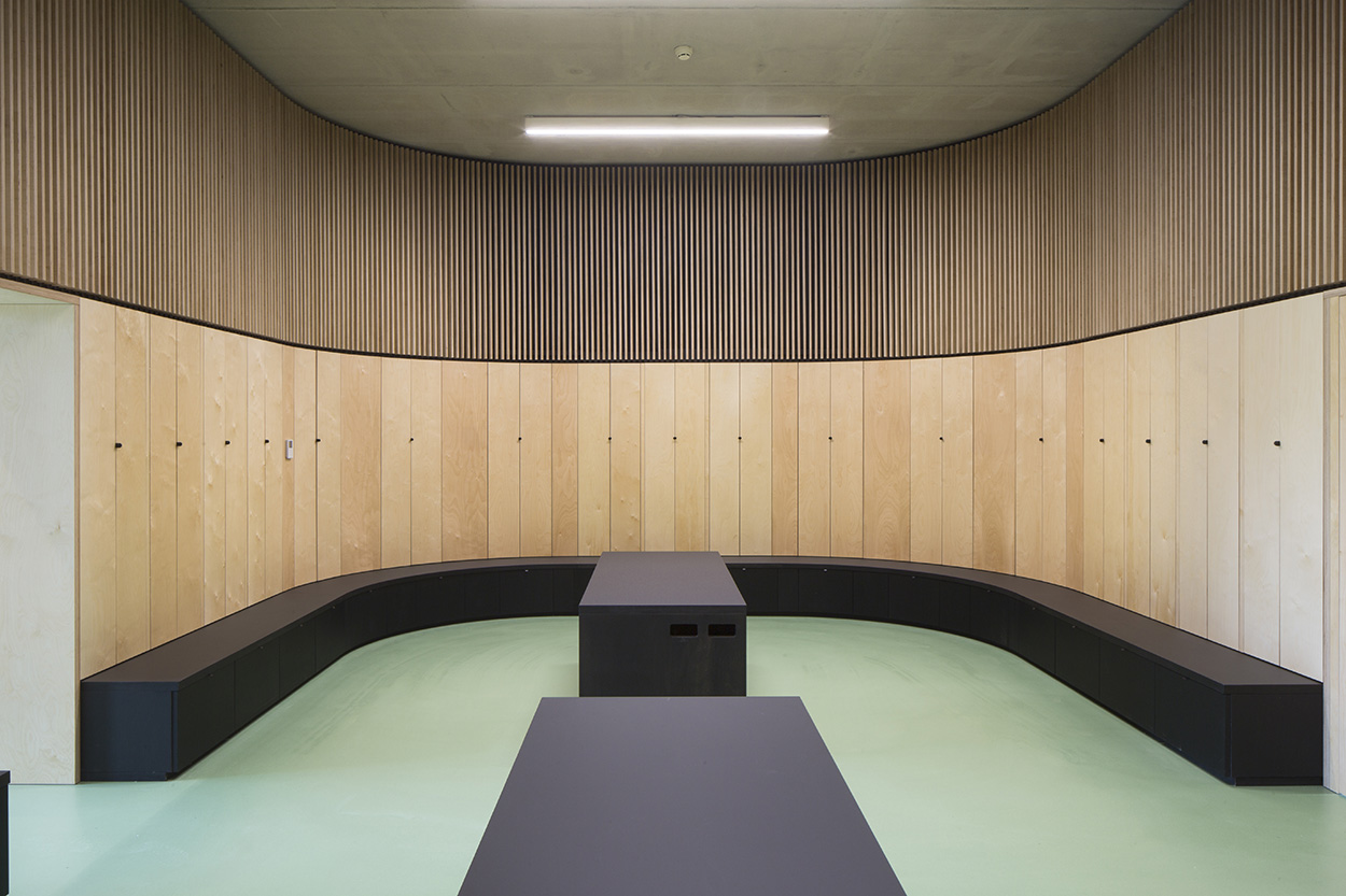 One of the changing rooms at the Mapei Football Center ©Filippo Romano.