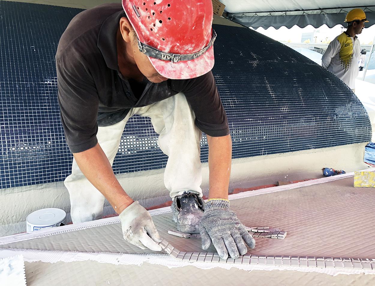 Moschea nazionale Masjid Negara_le soluzioni Mapei per le coperture - posa di mosaico (2)