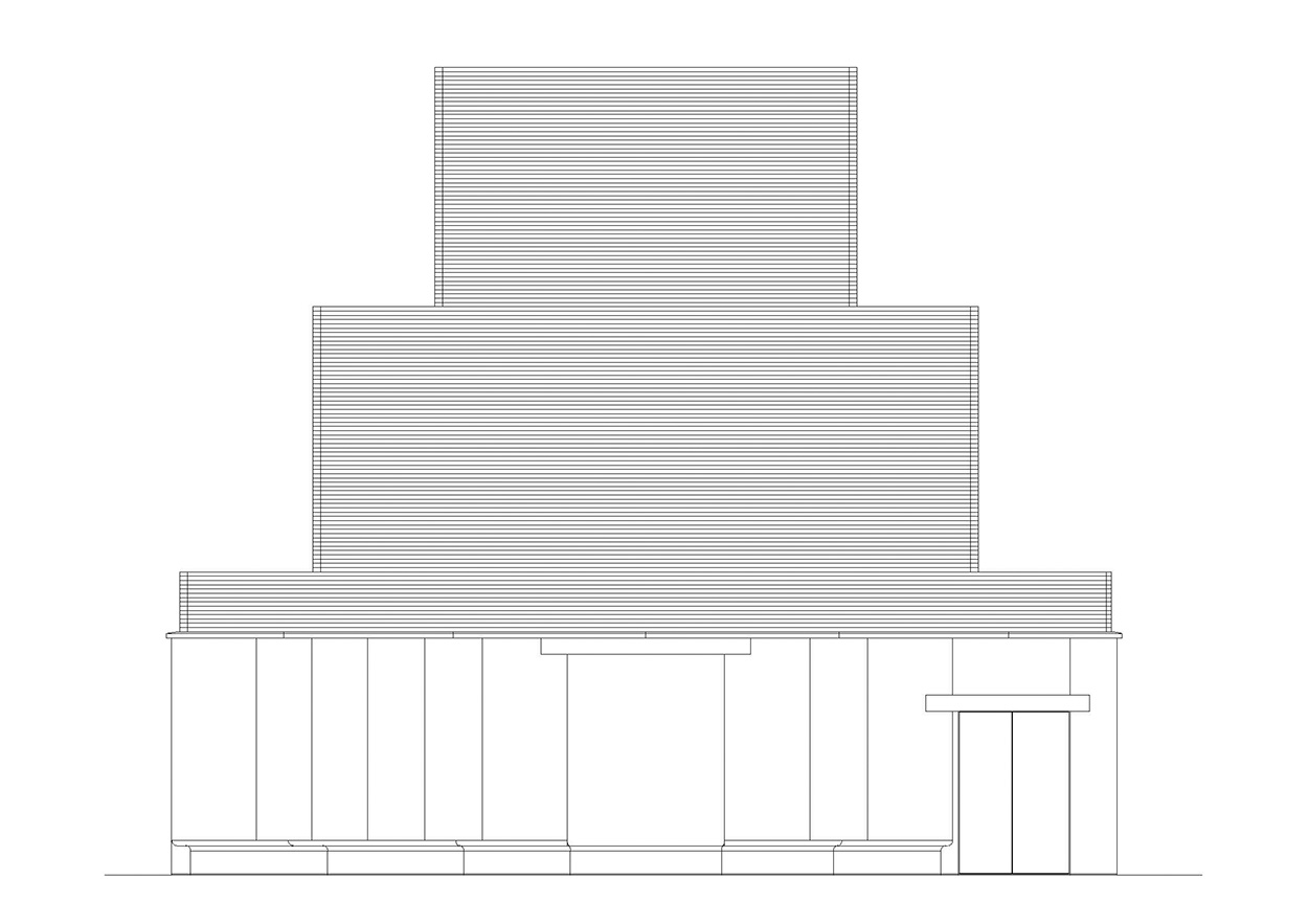 Mapei Football Center - facciata nord alleggerita