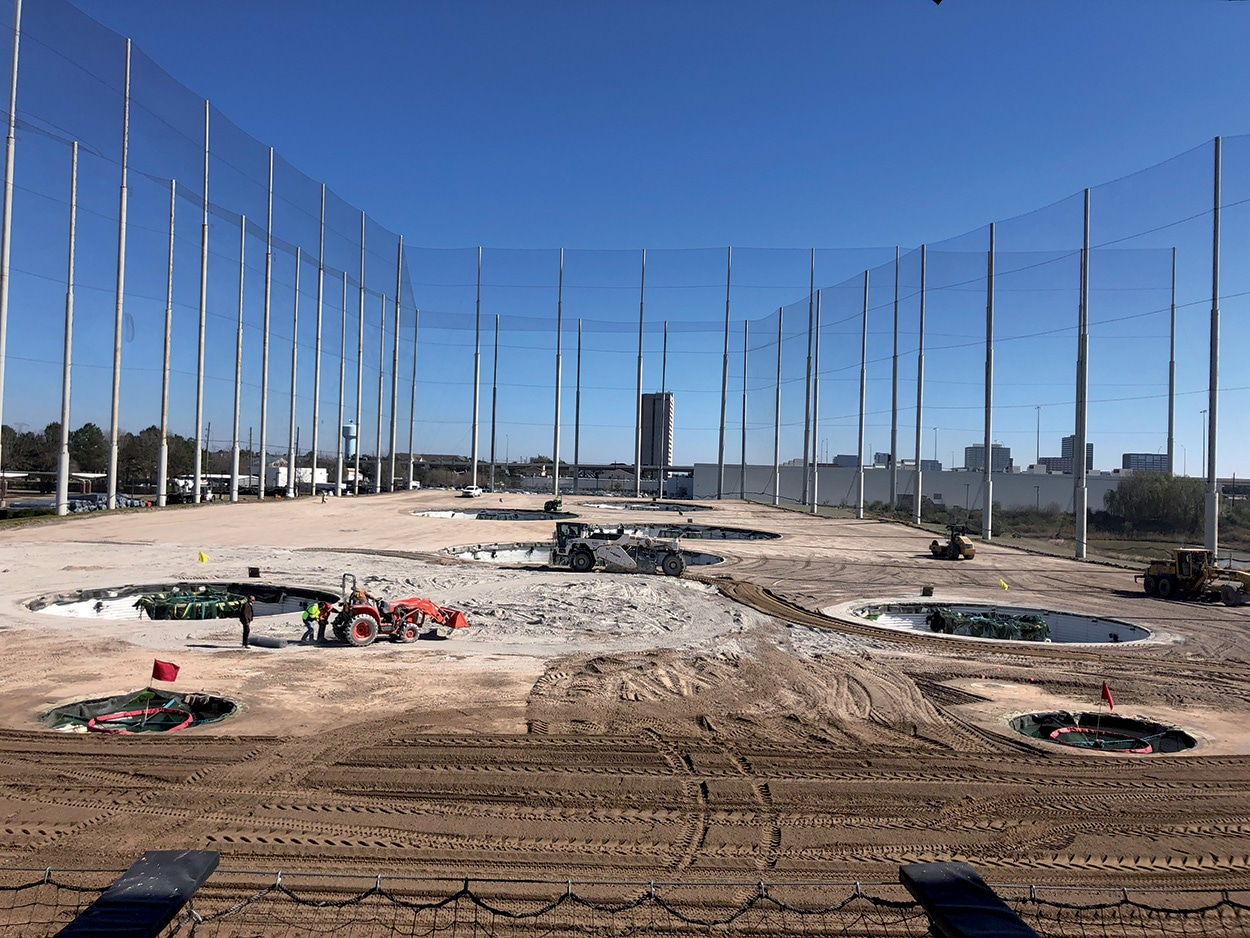 lavorazioni Mapesoil TopGolf Katy-Houston-Texas_Mapei-Mapesoil100_
