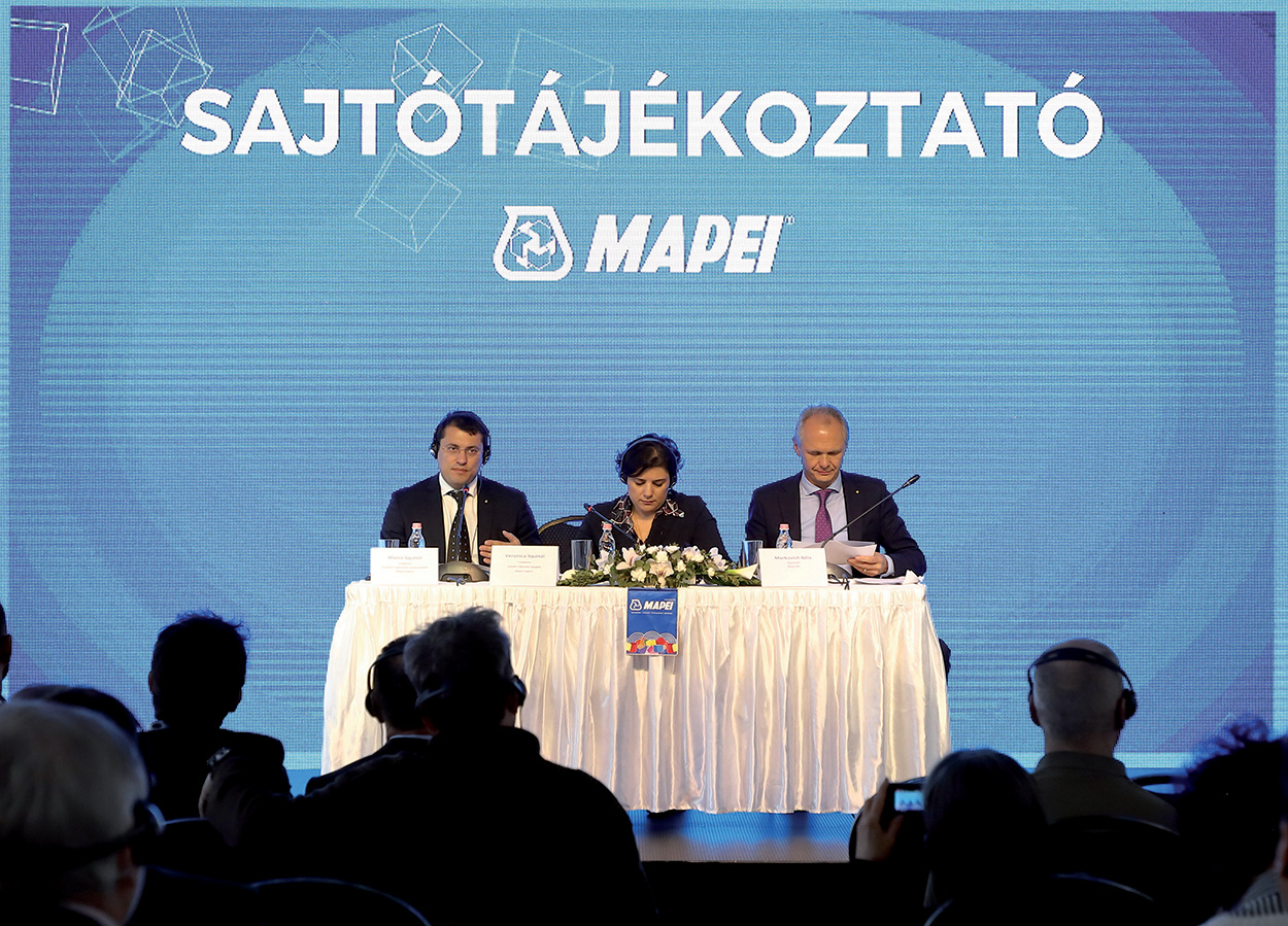 """Once again Mapei Kft's annual press conference turned out to be an ideal opportunity to inform the press about the """"head-spinning"""" figures the Group's Hungarian subsidiary can boast as proof of its success on the local building market."""