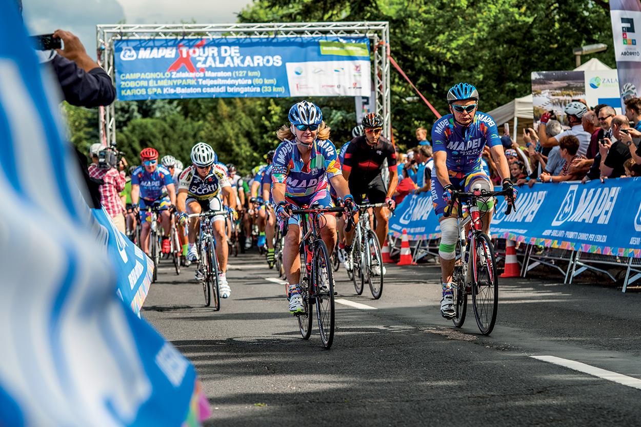 Nel weekend del 21-23 giugno si è tenuto il Mapei Tour de Zalakaros con cui Mapei Kft. ha voluto offrire due giornate di sport e divertimento a clienti e amici.