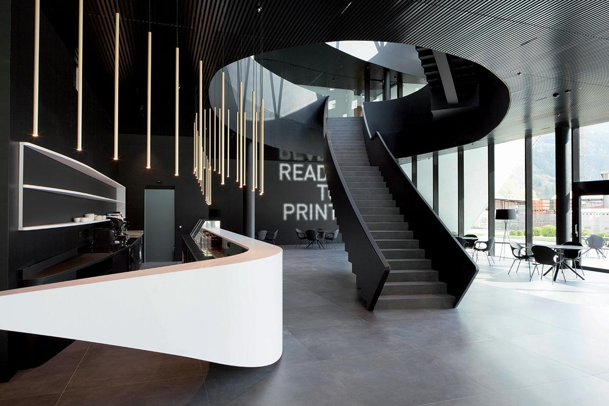ingresso della nuova sede Durst Phototechnik Bressanone_Mapei nel progetto del nuovo Quartier Generale (7)